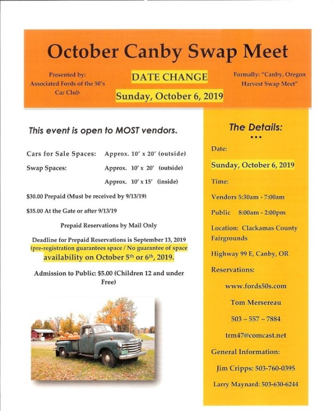 Canby Swap meet 2019